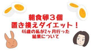 もさく美容_卵3個ダイエット46歳結果